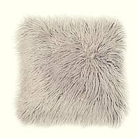 Декор подушка Лама пушистая серый цвет