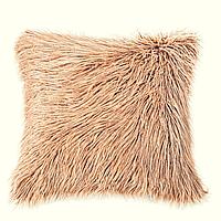 Декор подушка Лама пушистая золотой