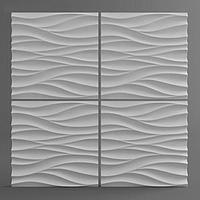 Гипсовая 3D панель Поток 500x500x28 мм, фото 2
