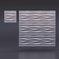 Гипсовая 3D панель Поток 500x500x28 мм, фото 6