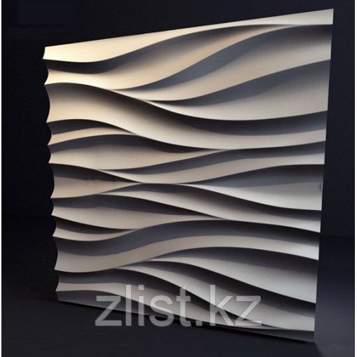 Гипсовая 3D панель Поток 500x500x28 мм