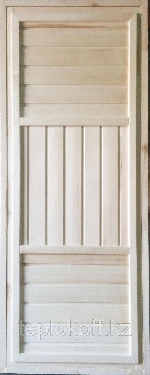 Дверь банная универсальная осина, вагонка кат. В 1800*700*65 мм