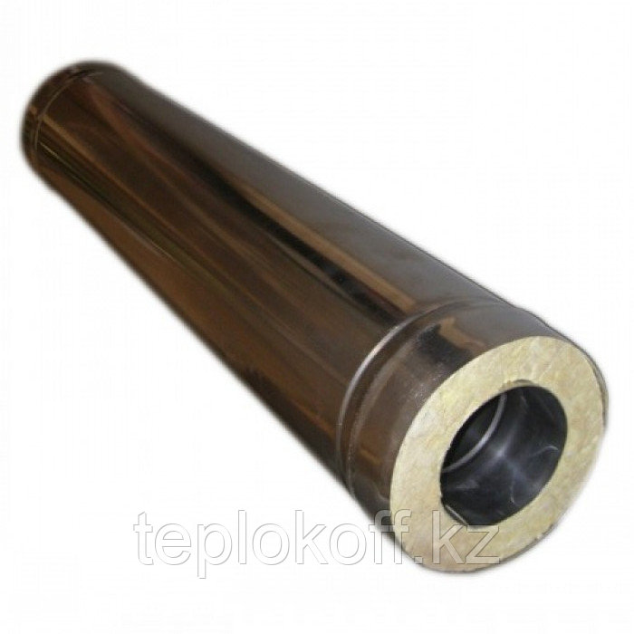 Сэндвич-труба 0,5м, ф 120х200 нерж/нерж 0,5мм/0,5мм, (К)