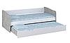 Кровать детская выдвижная Polini kids Simple 4210 белый-бетон