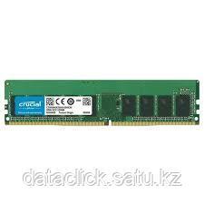 Crucial DRAM 16GB DDR4 2666 MT/s (PC4-21300) CL19 DR x8 ECC Unbuffered DIMM 288pin