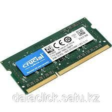 Crucial RAM 4GB DDR3L 1600 MT/s (PC3-12800) CL11 SODIMM 204pin 1.35V/1.5V Single Ranked, фото 2