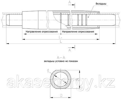 Зажим соединительный САС САП-500-1, САП-640-1