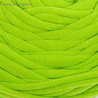 Пряжа трикотажная широкая 50м/160гр, ширина нити 7-9 мм (030 яр.зеленый)