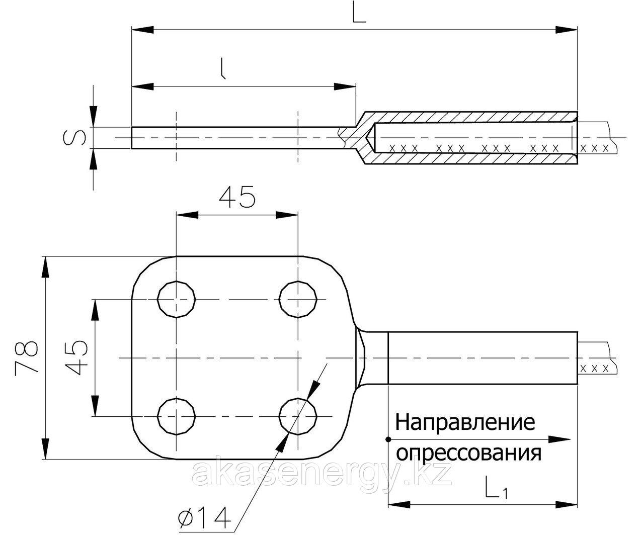 Аппаратные зажимы А4А-150Г-1, А4А-185Г-1, А4А-240Г-1