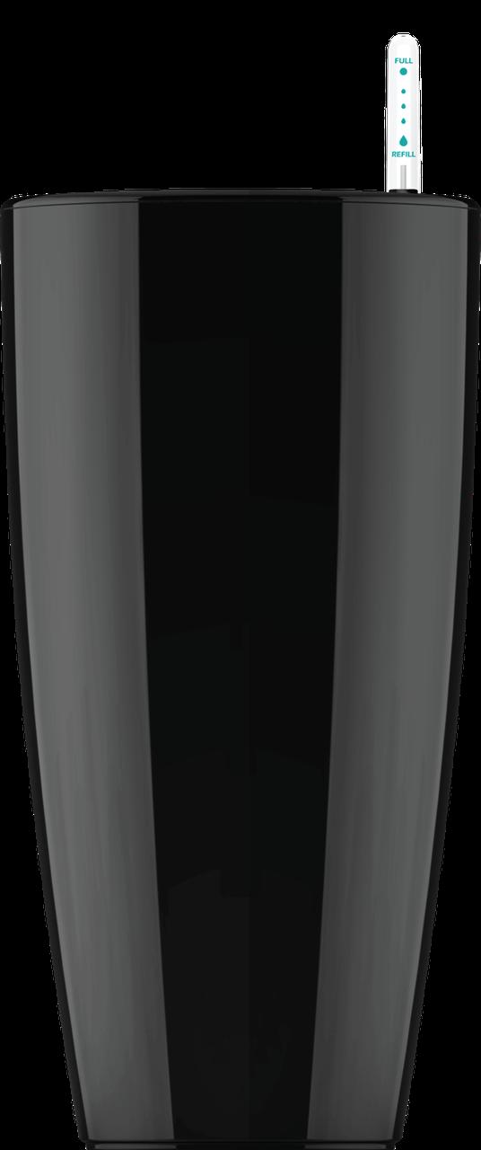 Черный кашпо с автополивом 43х81cmH