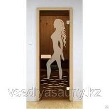 """Дверь для бани и сауны ALDO.с матировкой """"Диана"""" (690х1890)"""