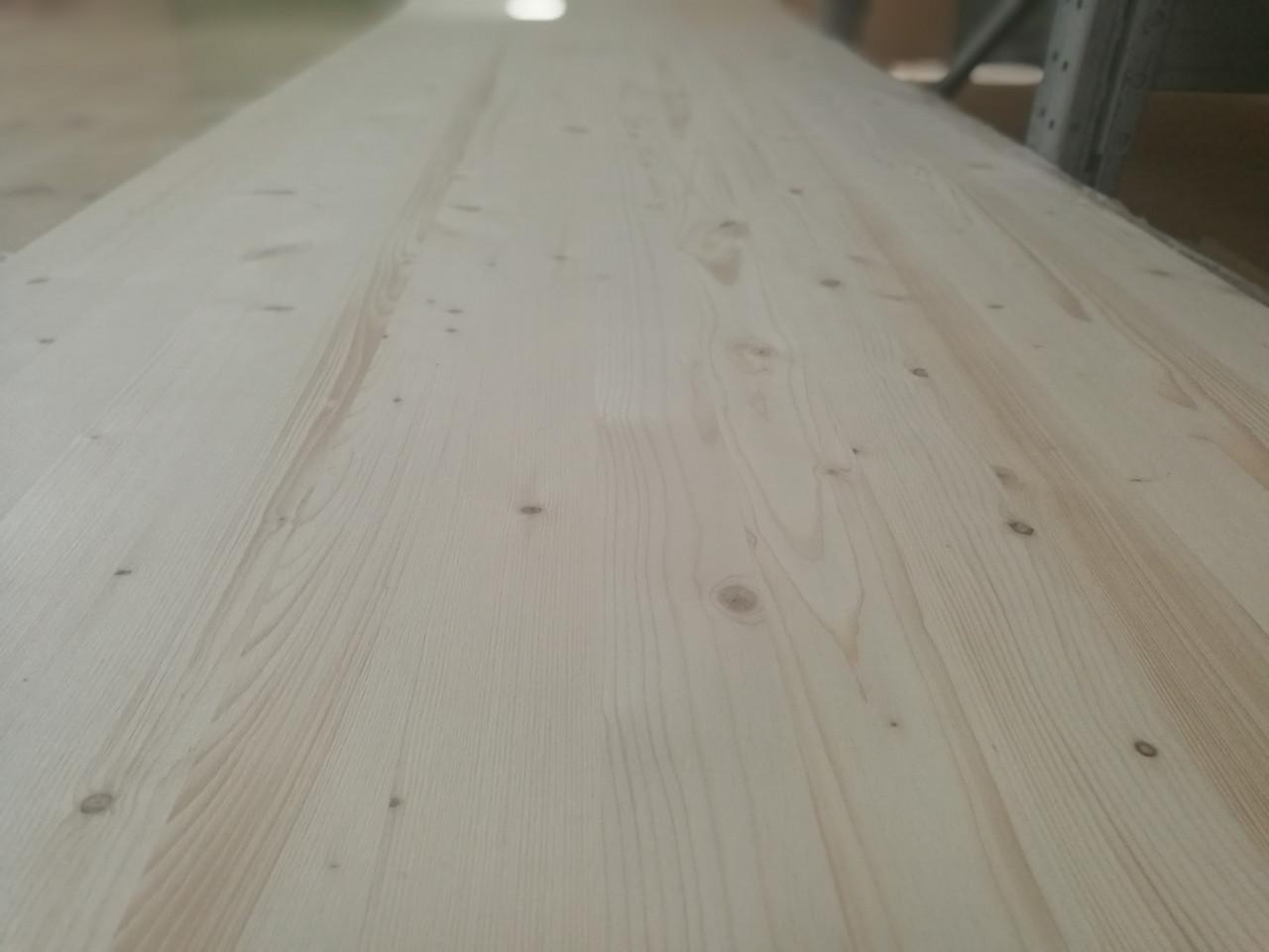 Мебельный щит Ель (цельноламельный) Толщиной 40 мм.