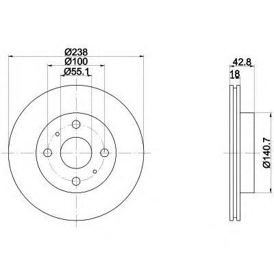 Тормозные диски Toyota  Starlet (89-99,передние, Optimal)