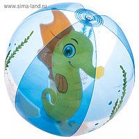 Мяч пляжный «Аквариум», от 2 лет, диаметр 51 см, цвет МИКС