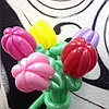 Цветочки из шаров в Алматы: ТЮЛЬПАНЫ