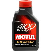 МОТОРНОЕ МАСЛО MOTUL 4100 TURBOLIGHT 10W-40  1 литр