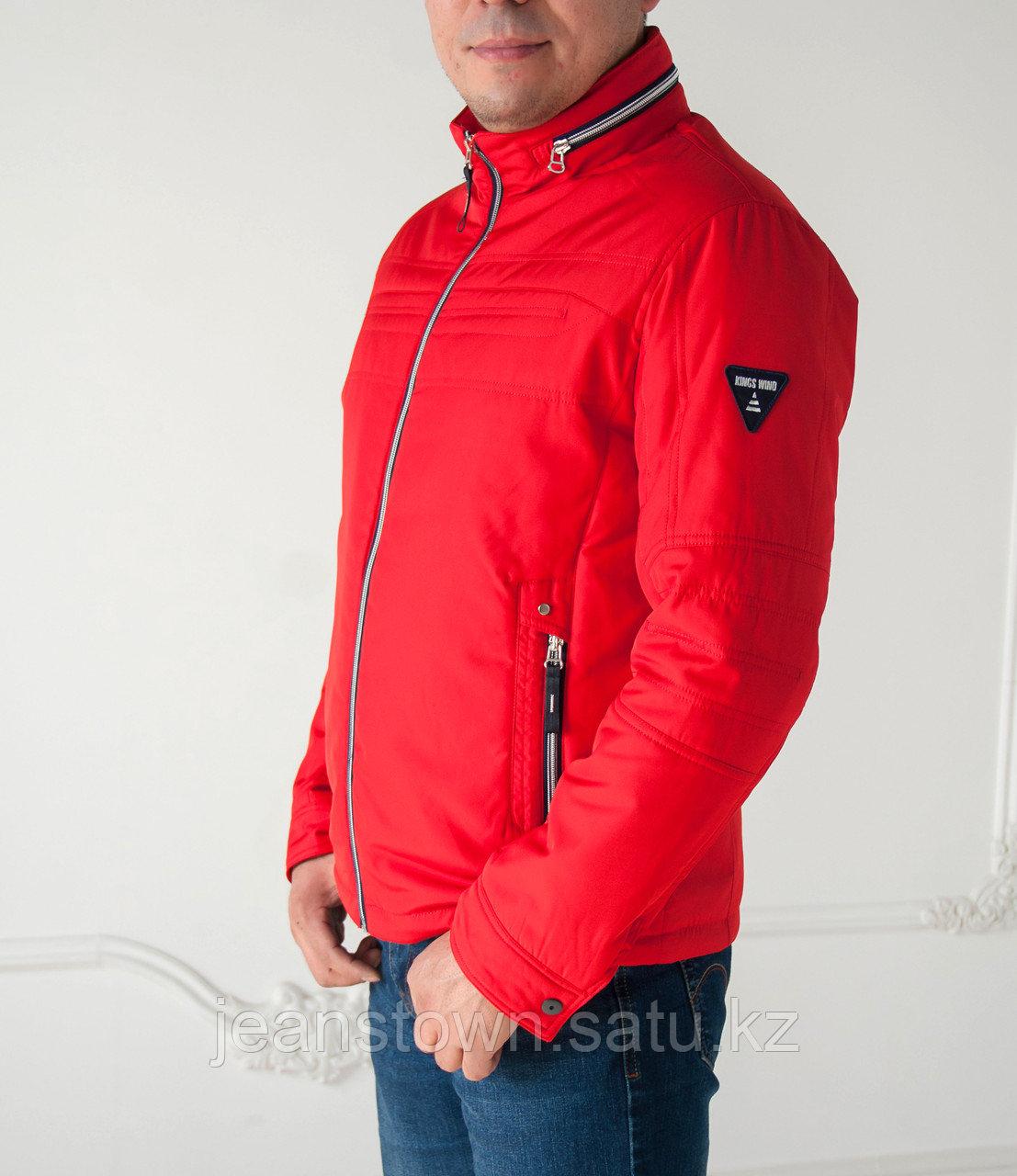 Куртка мужская демисезонная Kings  Wind короткая, красная