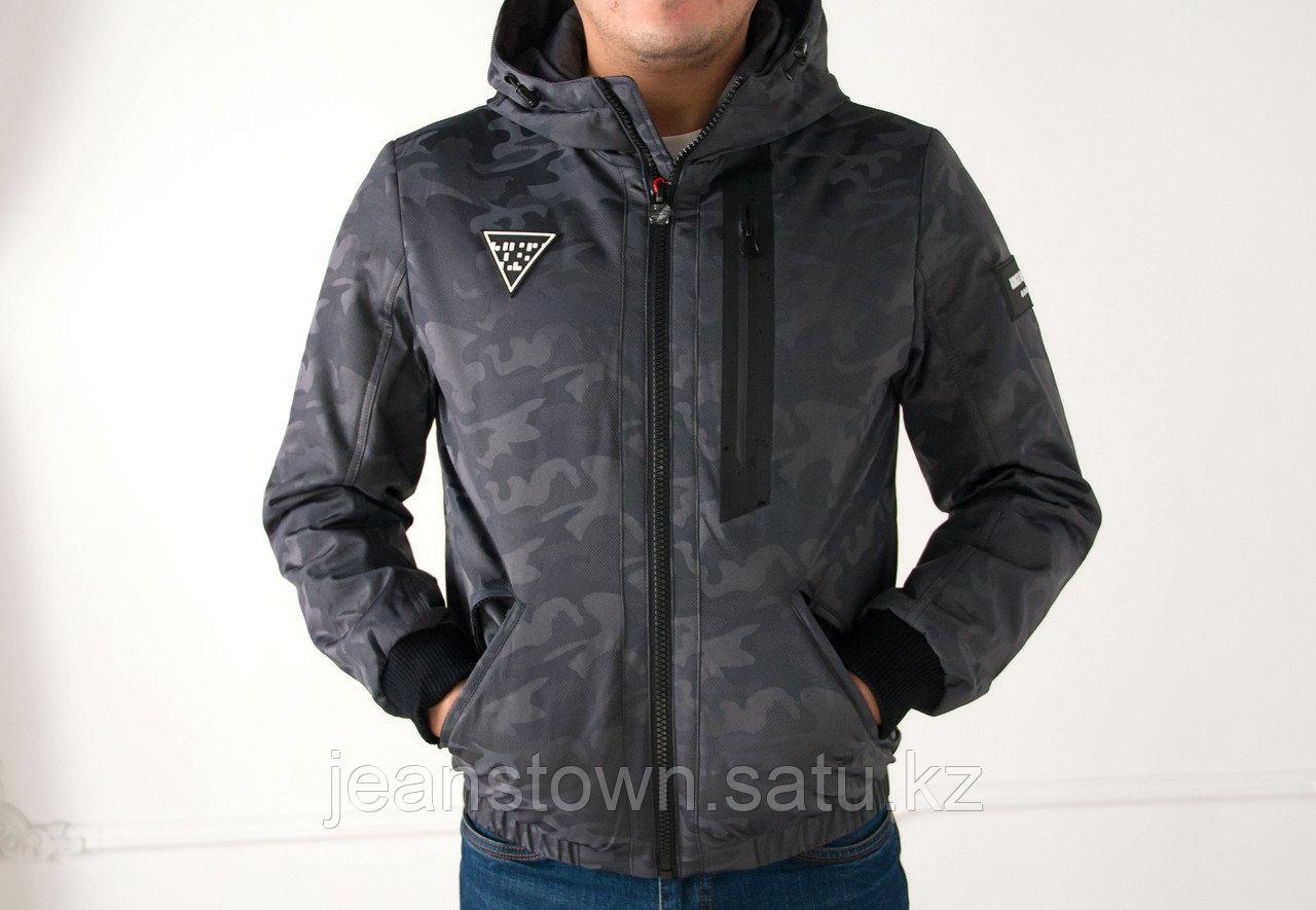 Куртка мужская демисезонная Kings  Wind короткая, серая