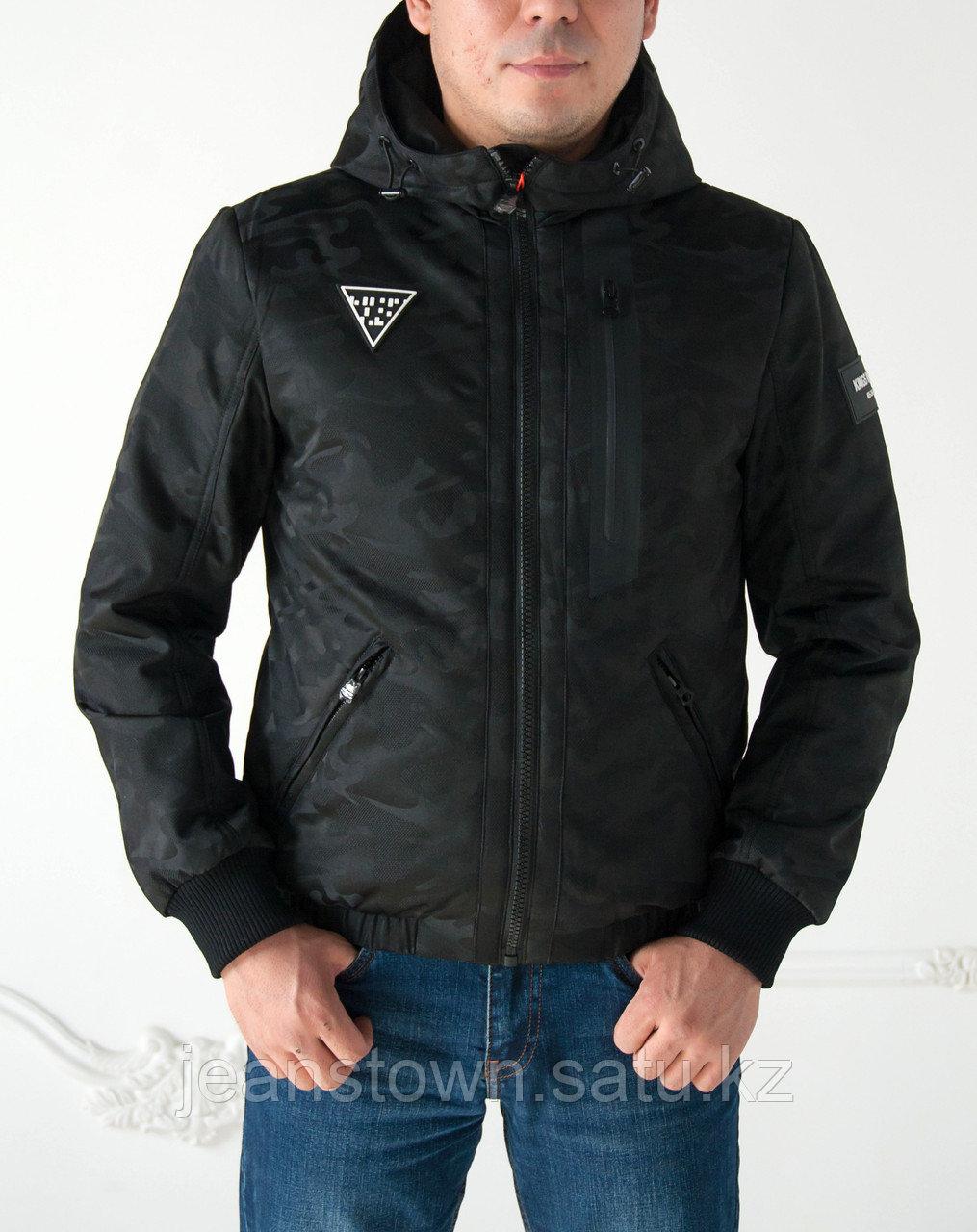 Куртка мужская демисезонная Kings  Wind короткая, черная