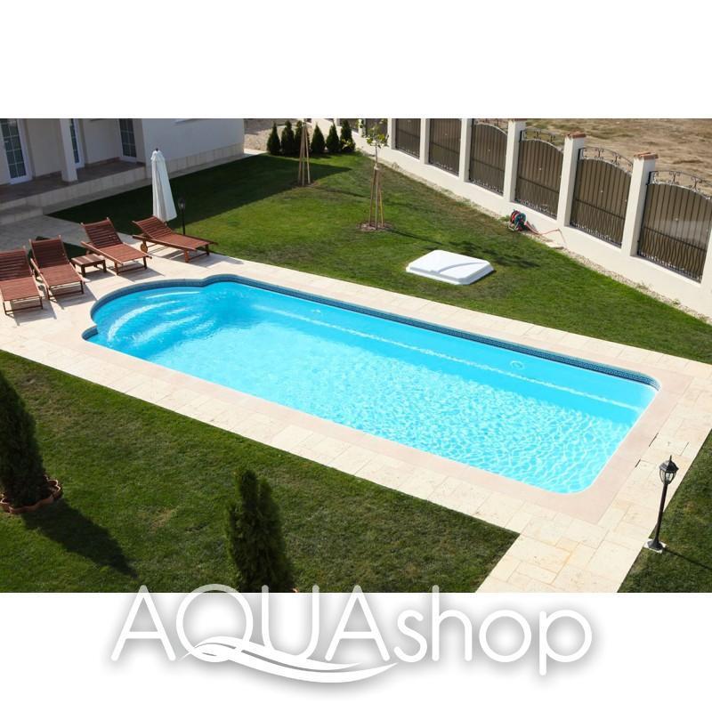 Композитный бассейн 9.1х3.8х1.3-1.65м, прямоугольный с римской лестницей - фото 3