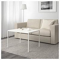 Журнальный стол/2-сторон столешница НИБОДА белый/серый ИКЕА, IKEA , фото 1