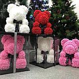 Мишка из роз 40см в подарочной упаковке, фото 2