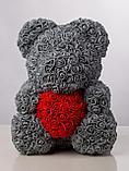 Мишка из роз 40см в подарочной упаковке, фото 3