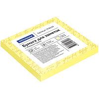 Бумага для заметок с клейким краем 75x75 100л. желтый OfficeSpace 299716