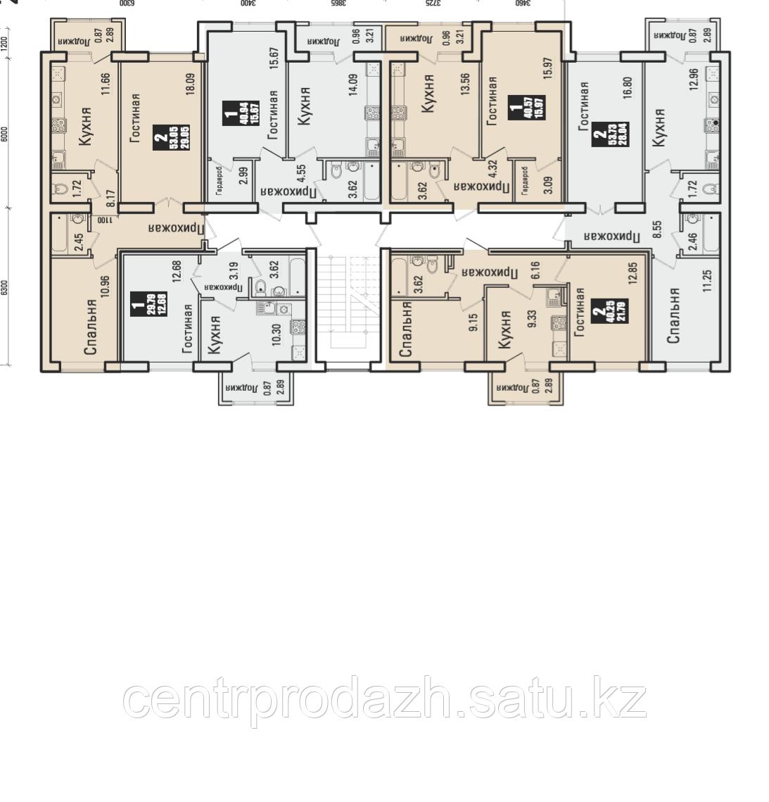 1 комнатная квартира в ЖК  Boston Comfort House  40.57 м²