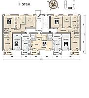 3 комнатная квартира в ЖК Boston Comfort House  70.34 м², фото 1