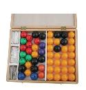 Набор атомов для составления моделей молекул со стержнями, демонстрационная, 100 деталей