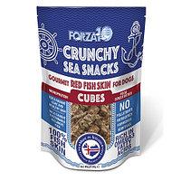 Лакомство для собак всех пород с 4х месяцев Snack Al Pesce: Red Fish Skin Cubes (морской окунь)
