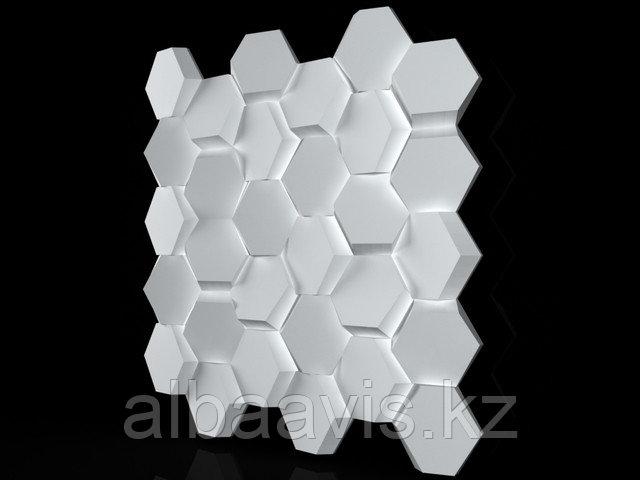 """Гипсовые 3D панели """"Сота"""" 3D/20 50х50х2,5 см  для декорирования стен"""