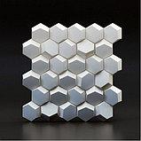 """Гипсовые 3D панели """"Сота"""" 3D/20 50х50х2,5 см  для декорирования стен, фото 4"""