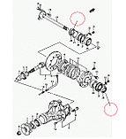 Сальник привода переднего моста (35Х62Х10) 09283-35052 / 09283-35008, фото 2