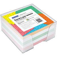 Блок для записи OfficeSpace, 9*9*4,5см, пластиковый бокс, цветной