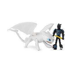 Как приручить дракона - Фигурка дракона Дневная Фурия и Иккинг, 17 см