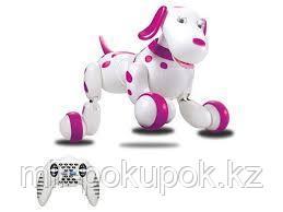 Интерактивная радиоуправляемая робот-собака розовая, Алматы