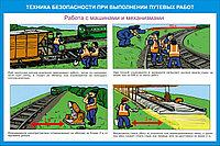 Плакаты Техника безопасности при выполнении путевых работ, фото 1