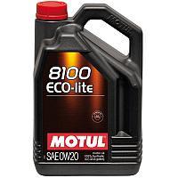 Синтетическое моторное масло MOTUL 8100 ECO-LITE 0W-20  5 литров