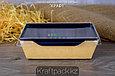 Контейнер, салатник с прозрачной крышкой  Black Edition 400мл 120*85*45 (Eco Opsalad 400 BE) DoEco (50/400), фото 5