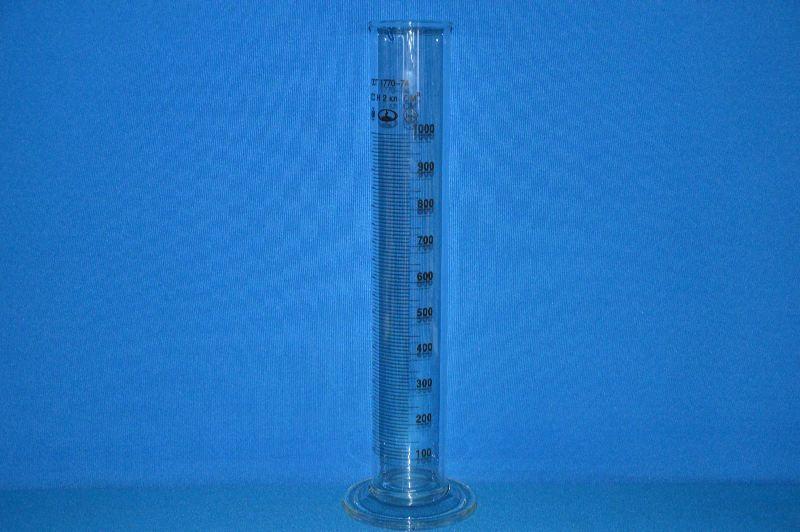 Цилиндр 1 мерный с носиком и стекл. осн. 1-1000-2 ТС