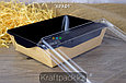 Контейнер, салатник с прозрачной крышкой  Black Edition 500мл 140*105*45 (Eco Opsalad 500 BE) DoEco (50/300), фото 3