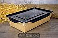 Контейнер, салатник с прозрачной крышкой  Black Edition 800мл 186*106*55 (Eco Opsalad 800 BE) DoEco (50/200), фото 2