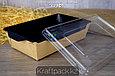 Контейнер, салатник с прозрачной крышкой  Black Edition 800мл 186*106*55 (Eco Opsalad 800 BE) DoEco (50/200), фото 5