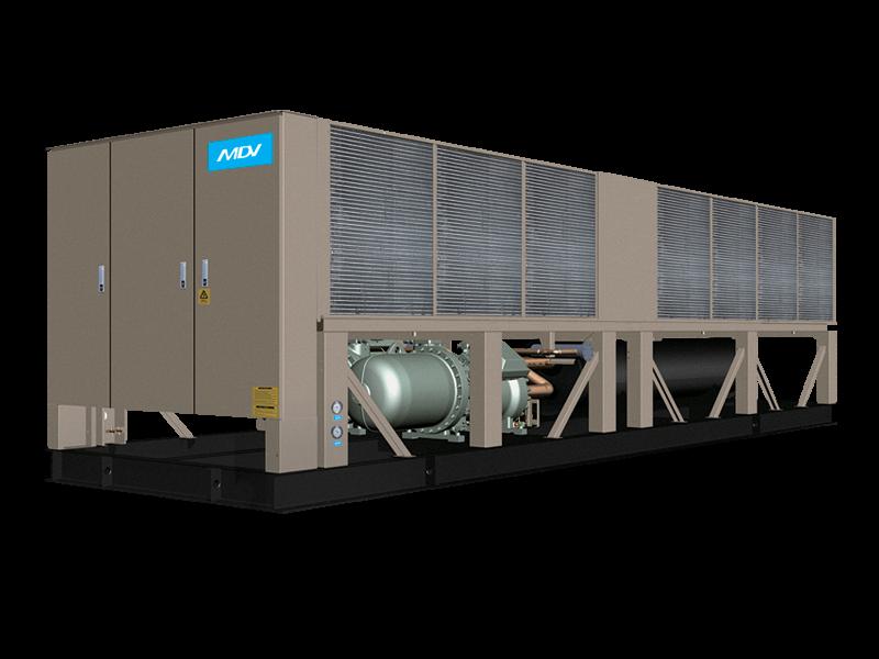 Чиллер MDV AQUA FORCE: LSBLGW900/C (с воздушным охлаждением конденсатора с винтовым компрессором)
