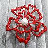 Красная брошь 🌺💮, фото 2