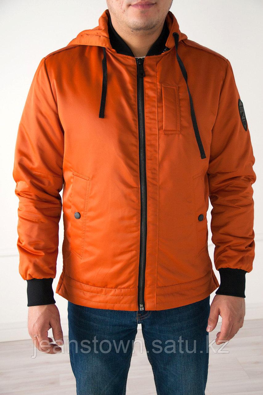 Куртка мужская, демисезонная Vivacana  короткая, оранжевая