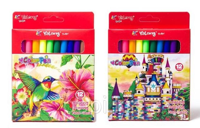 Фломастеры 12 цв Yalong 875030-12