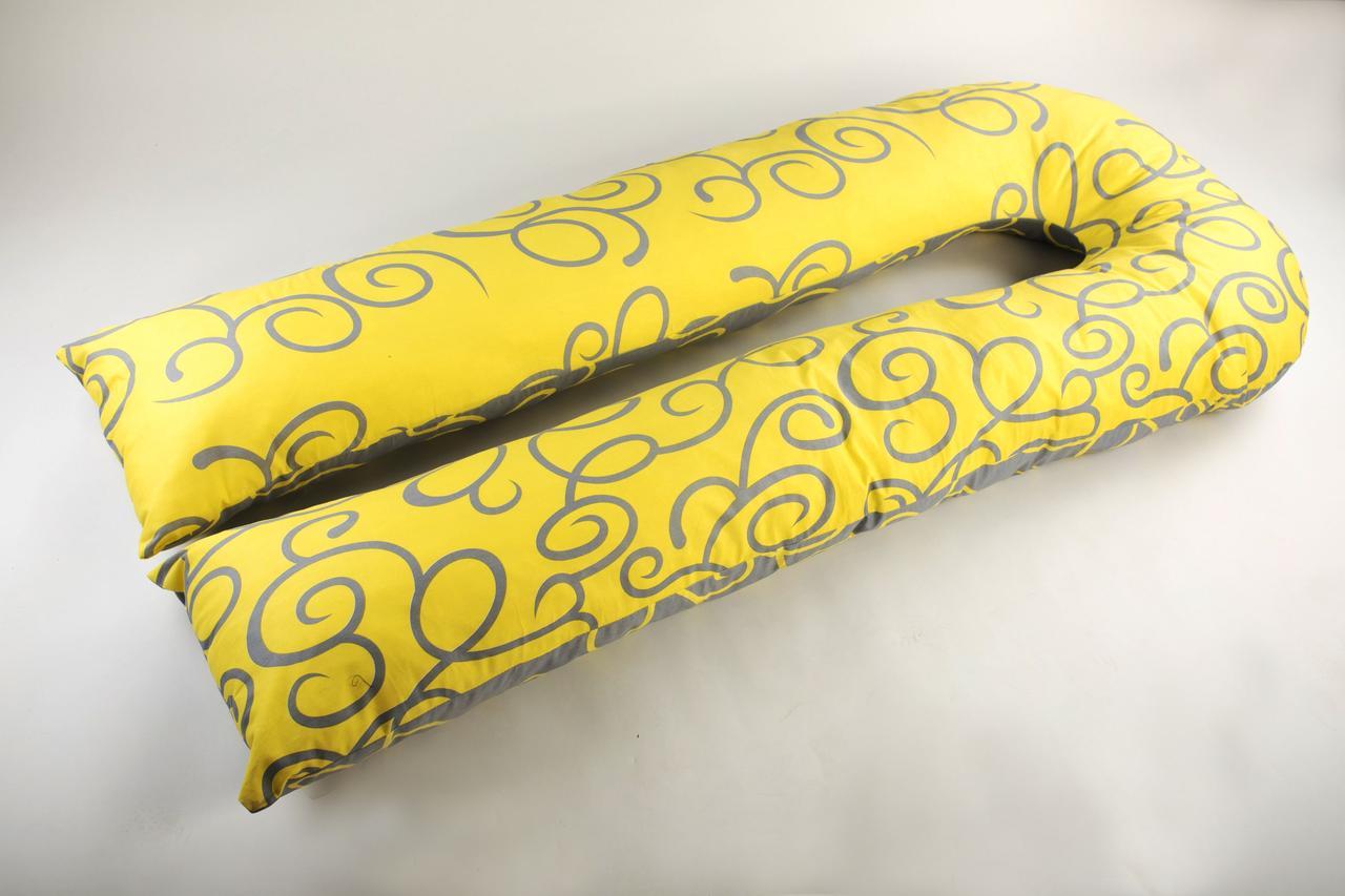 Подушка для беременных, модель J, 340х35 см